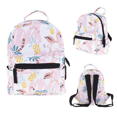 AU Stock Cute Kids Girl Flamingo Tropical Backpack School Book Shoulder Mini Bag