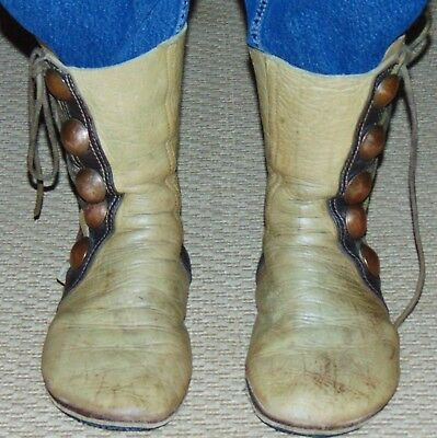 HIGH MOCCASIN BOOTS Leather  Vintage Bald Mountain Handmade