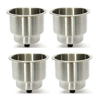 4PCS Stainless Steel Cup Drink Holder Marine Boat Car Truck Camper RV Useful