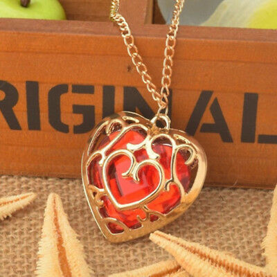 Anime The Legend of Zelda Skyward Sword Heart Container Necklace Chain Pendant