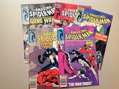 The Amazing Spider-Man 284-288 Gang War! Marvel Comics High Grade Lot