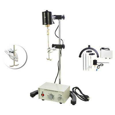 110V Electric Liquid Stirrer Mixer Height Adjustable Drum Mix Biochemical Lab