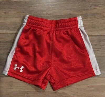 Boys Under Armour Red Active Athletic Shorts Size 0-3 Months