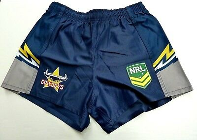 "Nrl North Queensland Cowboys Adults Home Supporter Shorts ""new For 2018"""