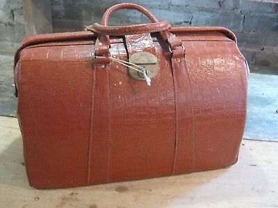 Vintage doctors bag Made in NSW with Keys Briefcase Tote LOT funky retro piece