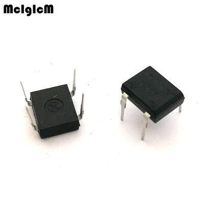 MCIGICM 50PCS DB107 dip4 dip 1A 1000V Single Phases Diode Rectifier Bridge