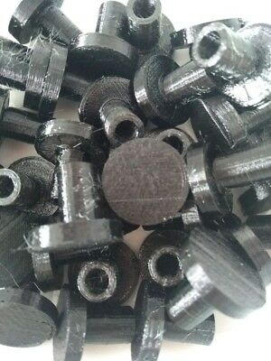 Frag Plugs by REEF-CYCLE - Black -x10 (Made from recycled plastic)