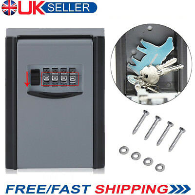 Key Cabinet Security Outdoor Wall Mounted Key Safe Box Code Secure Lock-Storage