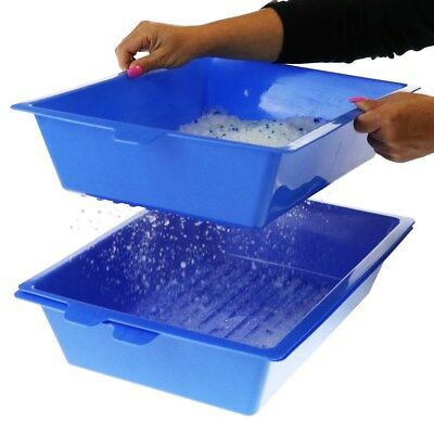 Sift Away Pet Cat Self Sifting Litter Box Toilet 3 Part System Slotted Trays Lif