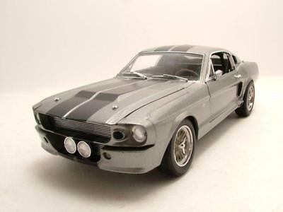 "Ford Shelby Mustang GT 500 ""Eleanor"" 1967 silber, Modellauto 1:18 / Greenlight"