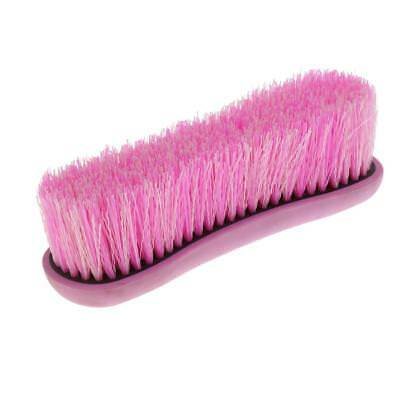Horse Body Brush Mane and Tail Comb Equestrian Care Grooming Tools Kit Pink