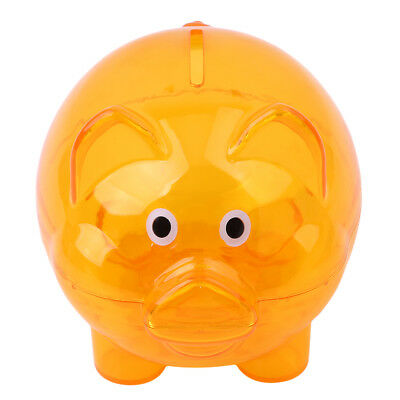 Cute Clear Glass Piggy Bank Coin Money Cash Collectible Saving Box Kids Gift