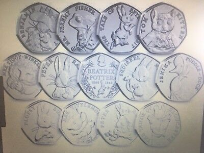 Uk Coins Beatrix Potter 50P Uncirculated 2016 - 2018  Choose From The List
