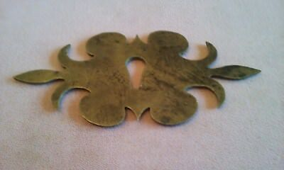 antique Brass key Escutcheons cut out early brass Key Hole Cover