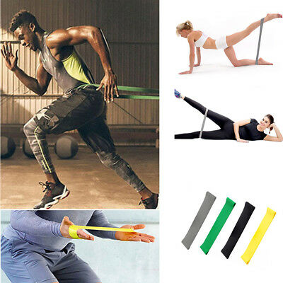 Workout Resistance Bands Loop Set Cross Fit Fitness Yoga Booty Exercise Band