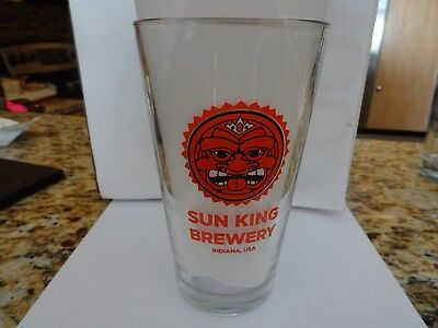 Sun King Brewery, Indiana, Beer Amazing beautiful Pint Glass NEW FREE SHIPPING