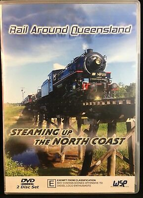Qr 2 Disc Set! Rail Around Queensland Steaming Up The North Coast Railway Dvd