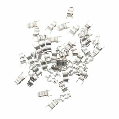50 Pcs Plug In Clip Clamp for 5 x 20mm Electronic Fuse Tube A2U7