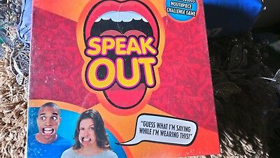 Speak Out Game Board Party Mouth Piece Challenge Family Kids Fun Xmas Gift New