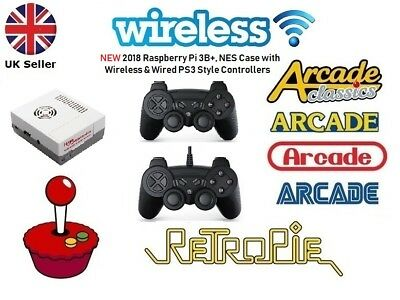 Retro Arcades, Wireless, Wired PS3 Raspberry Pi 3B+ Retropie Arcade Console