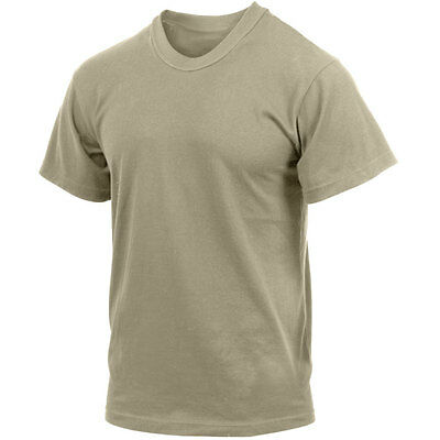 Military Issued Tan Short Sleeve T-Shirt-3 Pack-NEW
