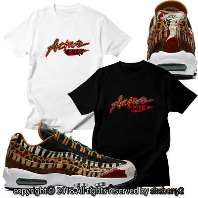 size 40 a226f 09186 NEW CUSTOM T SHIRT matching atmos x Nike Air Max 95 Animal Pack 2.0 AM95 1