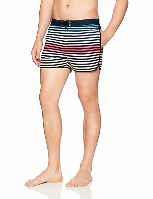 d4c4576cb5 ORIGINAL PENGUIN MEN'S Mini Gingham Printed Fixed Waist Swim Trunk ...