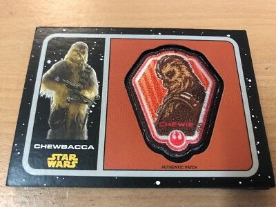 Star Wars Journey To The Force Awakens Patch Card P-14 Chewbacca