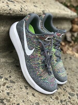 more photos d72d4 0a74a NIKE LUNAREPIC LOW Flyknit 2 Mens Running Grey/Multi-Color 863779-003 Sz 8  & 11