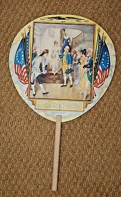 Vintage c.1931 Washington at the Wedding of Nelly Custis Advertising Hand Fan