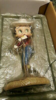 Betty Boop Danbery Mint Cow Girl W/coa