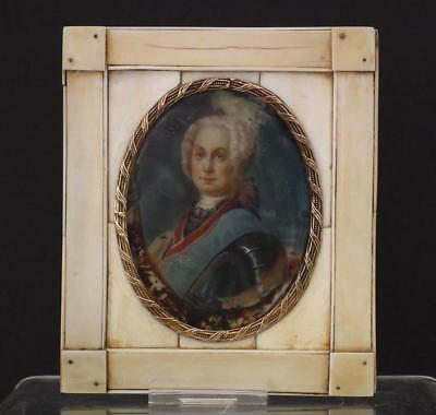 Antique Miniature Portrait of Imperial Russian Duke or Tsar 18th-19th century