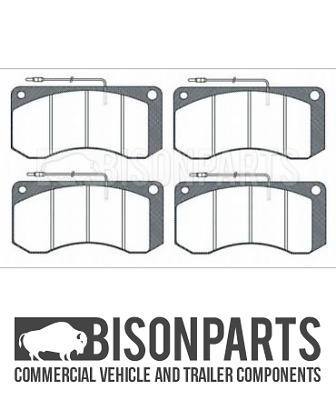 """""""fits Dennis R & S Series Fire Engine Fits Front Or Rear Brake Pad Set Bp106-096"""