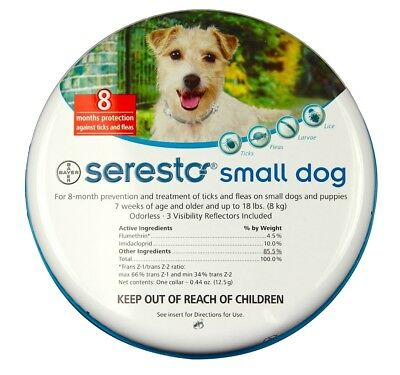 Seresto Flea & Tick Collar for Small Dogs (1 - 18 lbs)