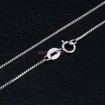 "Fashion Solid 925 Sterling Silver Trace Chain Necklace 16""18""20""22""24"" Inch Box"
