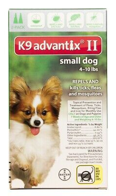 K9 Advantix II for Small Dogs [4-10 lbs] (2 count)