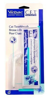 C.E.T. Cat Toothbrush & Enzymatic Toothpaste (12 g)
