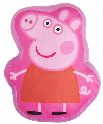 Girls Peppa Pig Novelty Shaped Cushion Childrens Soft Plush Stuffed Pillow Kids