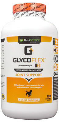 Glyco Flex 3 Chewable Tablets for Dogs (120 count)