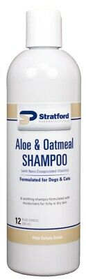 Aloe & Oatmeal Shampoo [Pina Colada scent] for Dogs & Cats [Stratford] (12 oz)