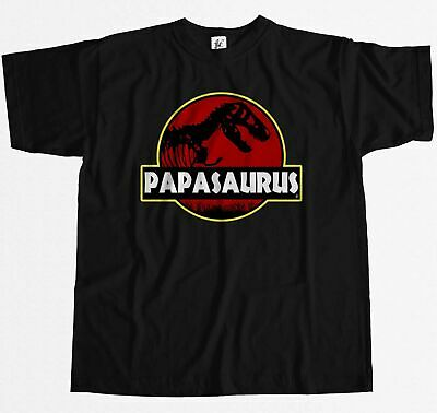 Papasauras Funny Dad Fathers Day T-Rex Old Dinosaur Mens T-Shirt