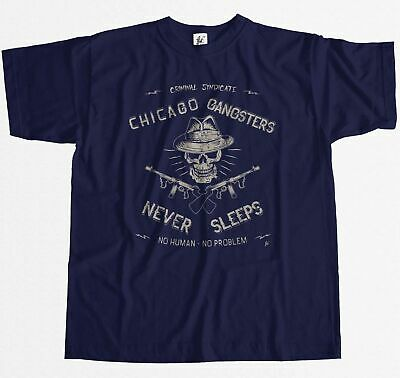 Chicago Gangsters Never Sleep Criminal Syndicate Mens T-Shirt