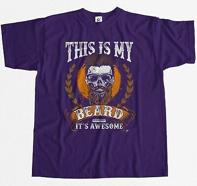 This Is My Beard It's Awesome Stylish Bearded Skull Mens T-Shirt