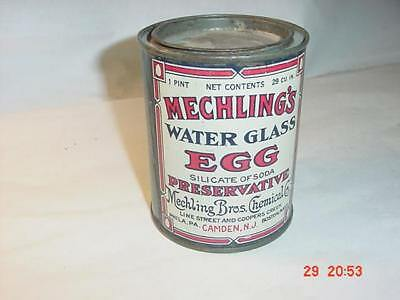 1- Pint MECHLING'S Water Glass Egg Preservative, Metal Can