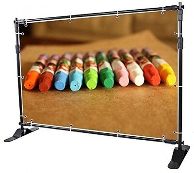Yescom 8' Step And Repeat Display Backdrop Banner Stand Adjustable Telescopic