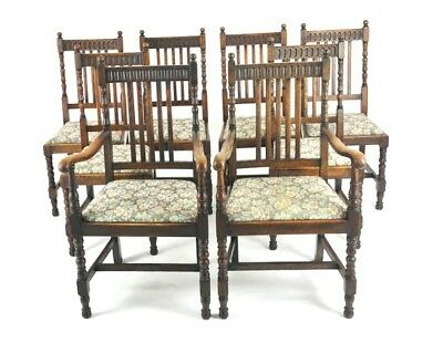 Antique Dining Chairs, 8 Highback Chairs, Oak, France 1900, B1098   REDUCED!!!!