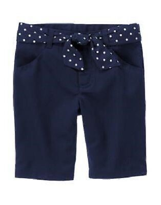 Gymboree Uniform Shop Navy Blue Bermuda Shorts w/Belt Size 12 NEW