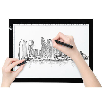 A4 A3 LED Light Pad Slim Art Craft Drawing Tracing Tattoo Light Box Pad Board UK