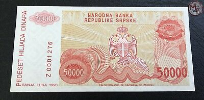 Bosnia and Herzegovina- 50.000 Dinars 1993- REPLACEMENT- UNC- !!!