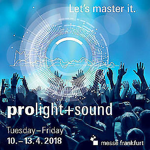 Eintrittscode Tageskarte Ticket Messe Prolight + Sound 2018 in Frankfurt mit RMV
